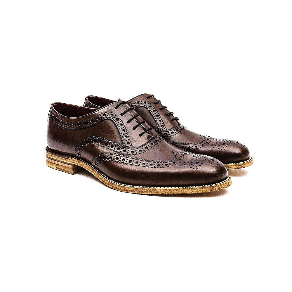 Loake Men's Fearnley Leather Oxford Brogues - Dark Brown