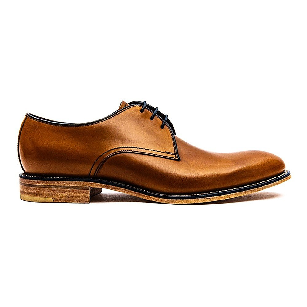 Loake Men's Drake Leather Derby Shoes - Tan