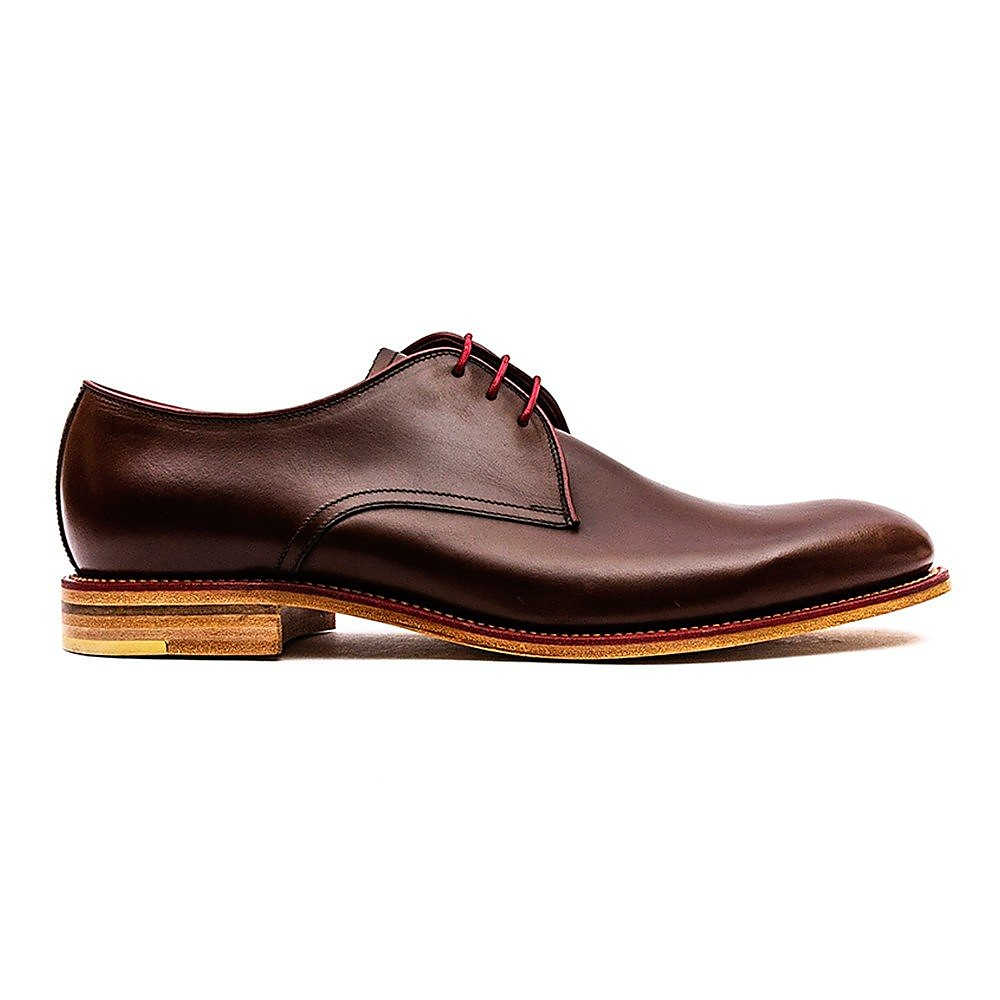 Loake Men's Drake Leather Derby Shoes - Dark Brown