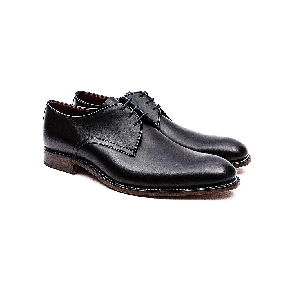 Loake Men's Drake Leather Derby Shoes - Black