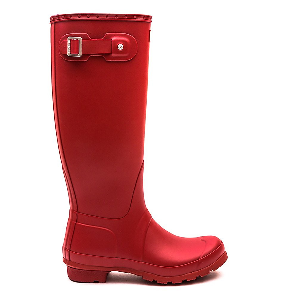 Hunter Wellies Women's Original Tall Wellington Boots - Military Red