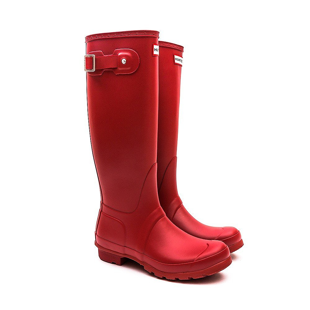 Hunter Wellies Womens Original Tall - Military Red