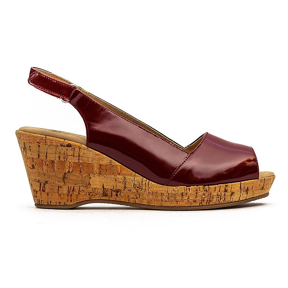 Caprice Wedge - Womens - Red Patent Sling