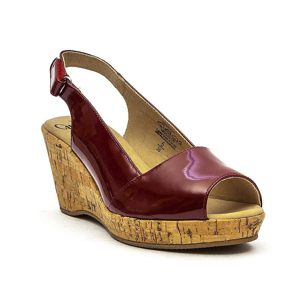Caprice Wedge Sling Back Womens Red