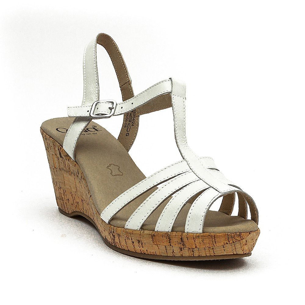 Caprice Wedge - Womens - White