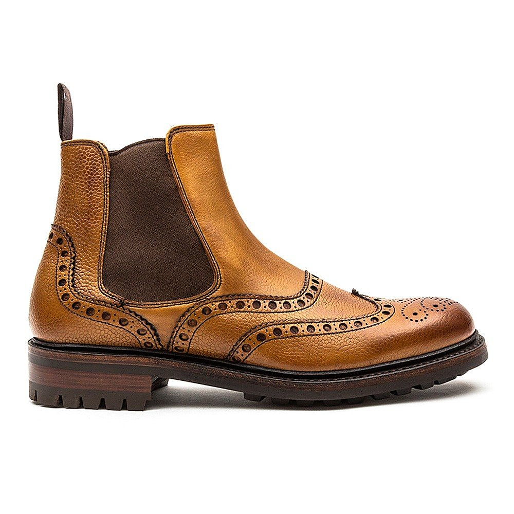Cheaney Men's Tamar C Leather Chelsea Boots - Almond