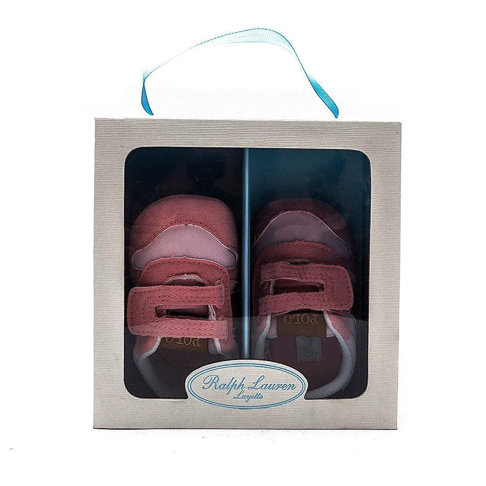 Ralph Lauren Kids Dart II EZ Crib Microsuede Infants Shoes - Rose