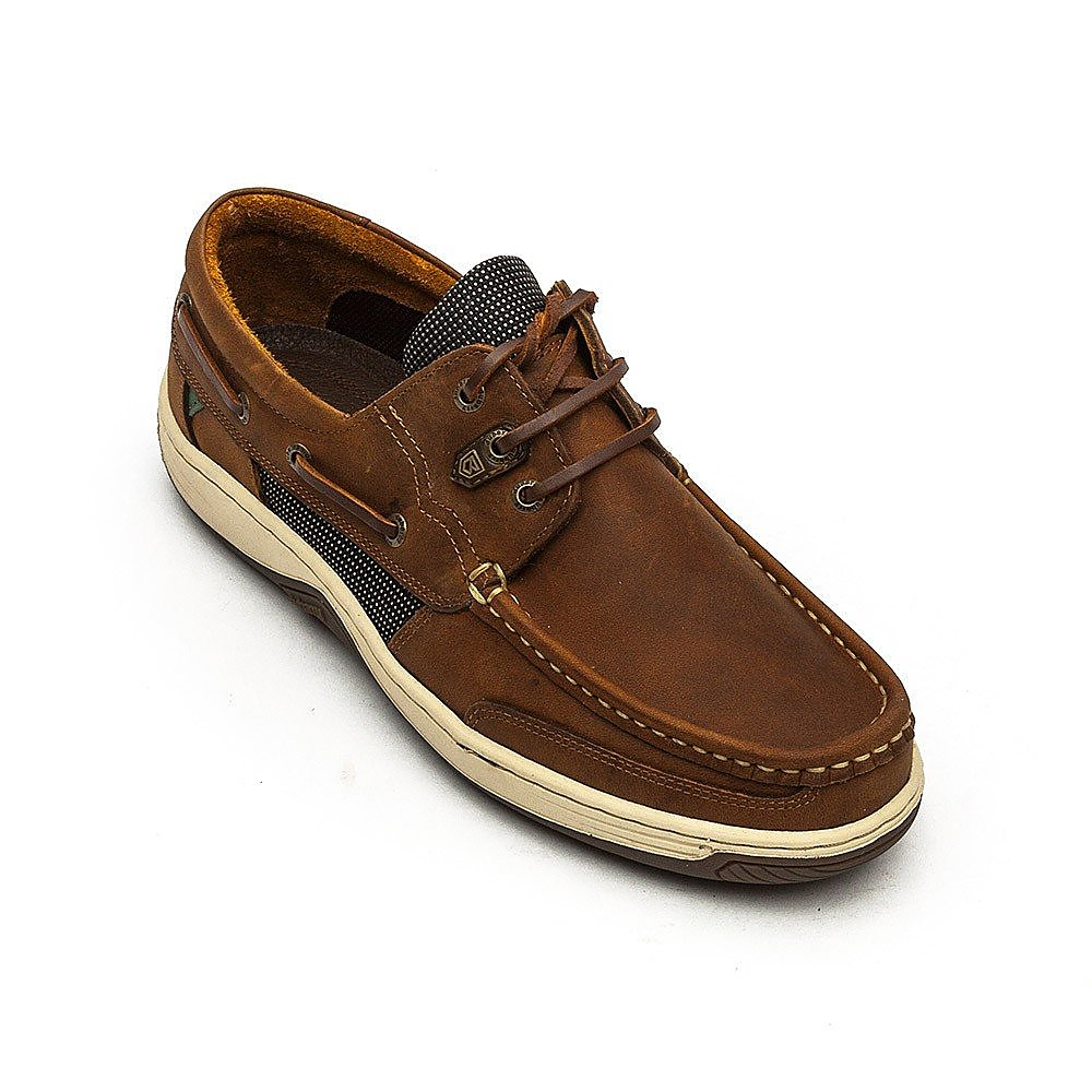 Dubarry Men's Regatta Leather Boat Shoes - Whiskey