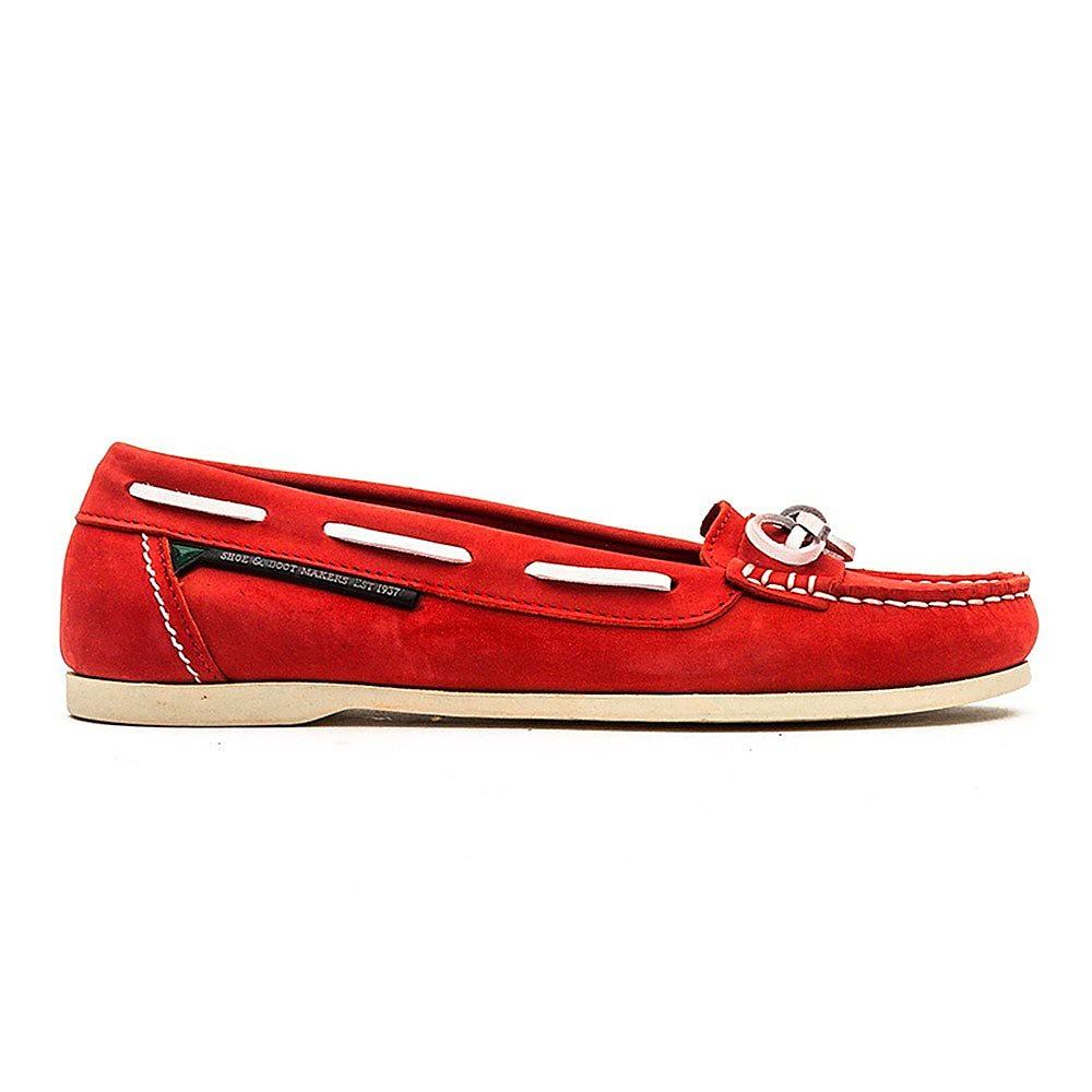 Dubarry Women's Fiji Nubuck Boat Shoes - Red