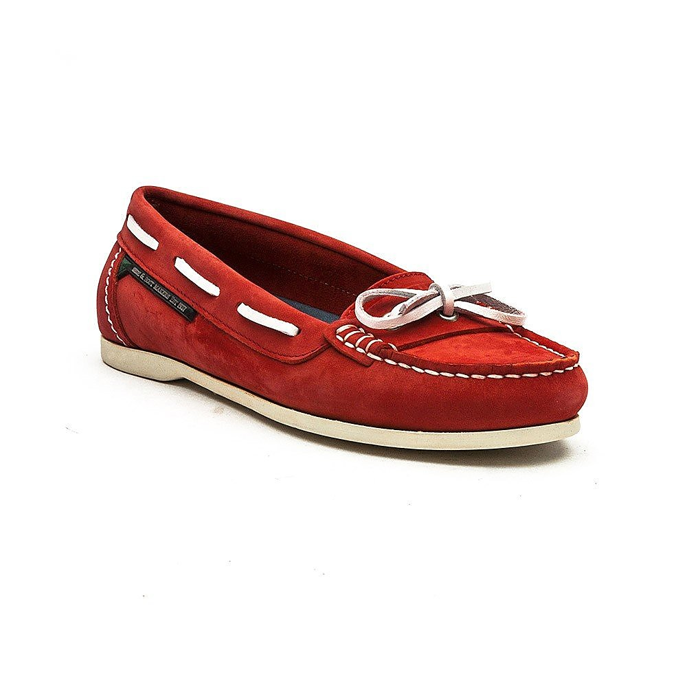 Dubarry Women's Fiji Nubuck Boat Shoes - Red