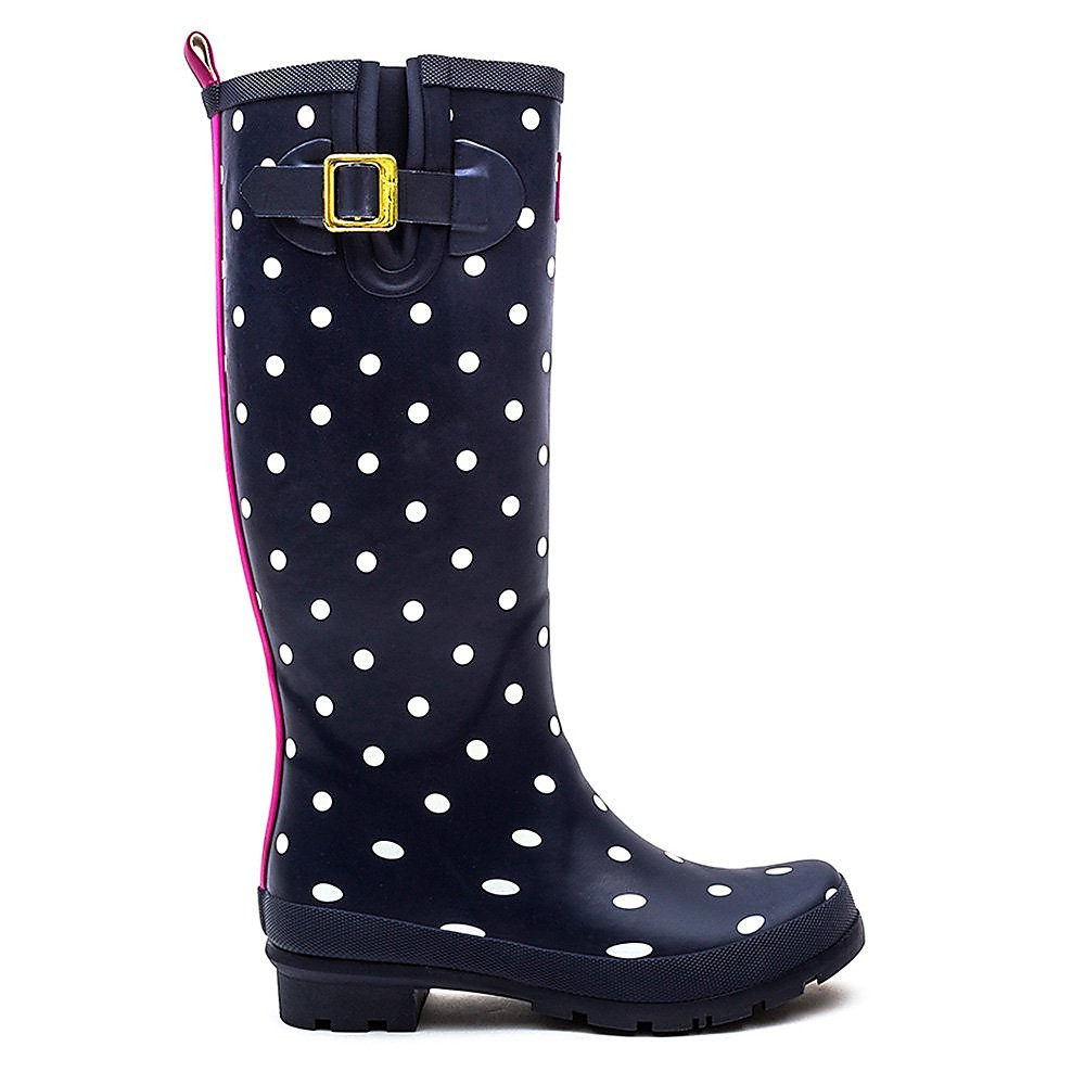 Joules Women's Wellyprint Spot Rubber Wellington Boots - French Navy