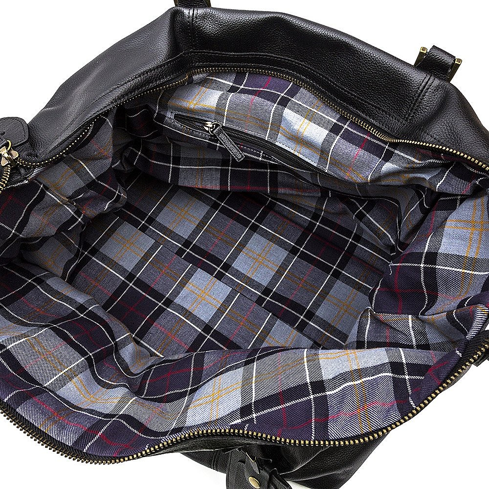 Barbour Leather Medium Explorer Travel Bag
