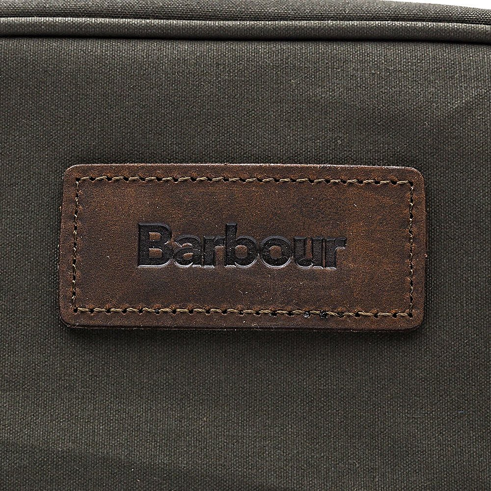 Barbour Drywax Cotton Wash Bag - Olive
