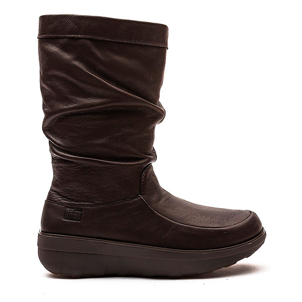 FitFlop Womens Loaff Slouchy Knee Boots - Chocolate