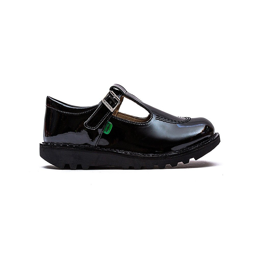Kickers Infants Kick T Shoes - Black Patent