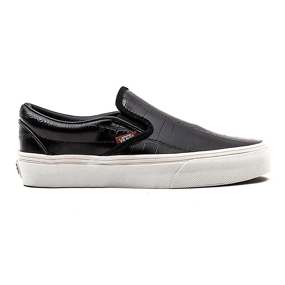 Vans Classic Slip-On Womens Black Croc