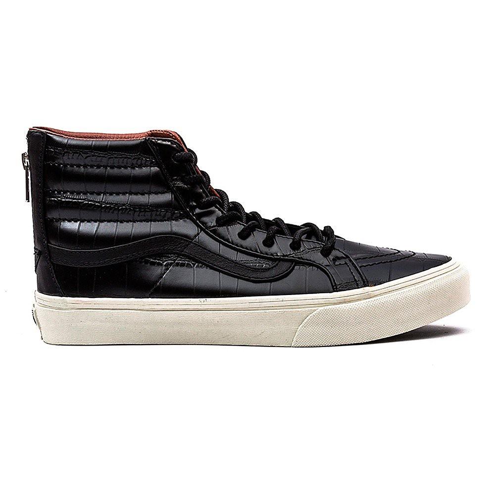 Vans Women's SK8-Hi Slim Zip Croc Trainers - Black