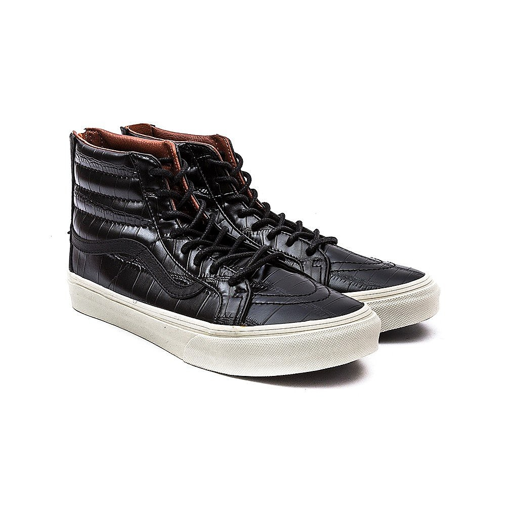 Vans SK8-Hi Slim Zip Womens Black Croc