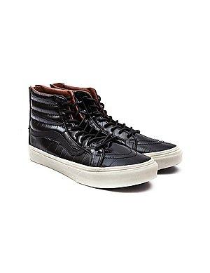 aa0d2fb31e ... Vans Women s SK8-Hi Slim Zip Croc Trainers - Black