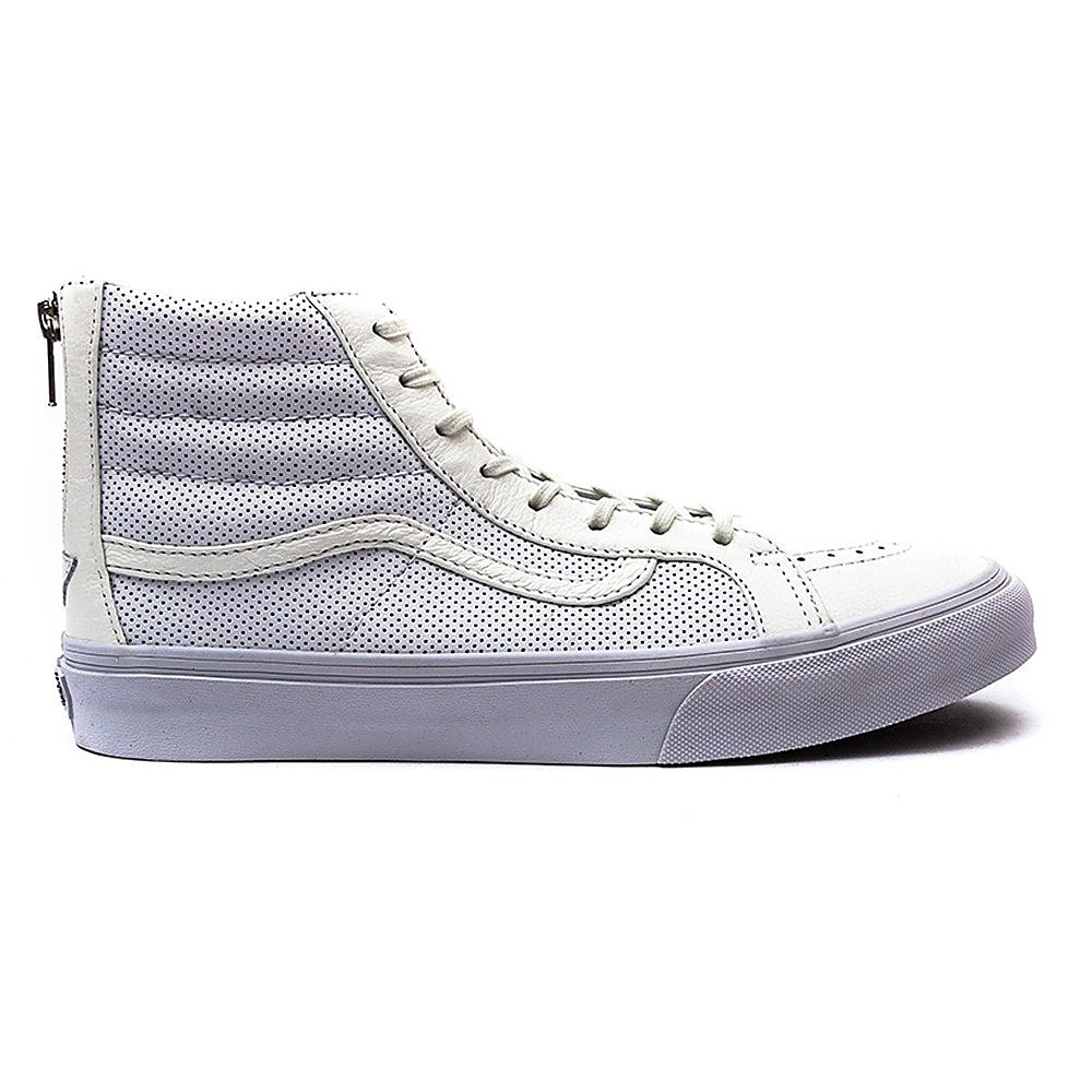 Vans SK8-Hi Slim Zip True White Perforated