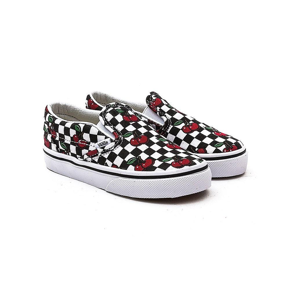 Vans Classic Slip-On Black/White Cherry