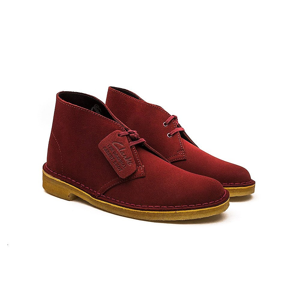 Clarks Desert Boot Womens Cherry
