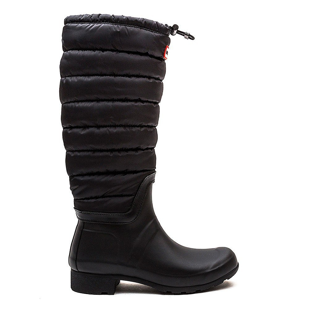 Hunter Wellies Womens Original Quilted Leg - Black