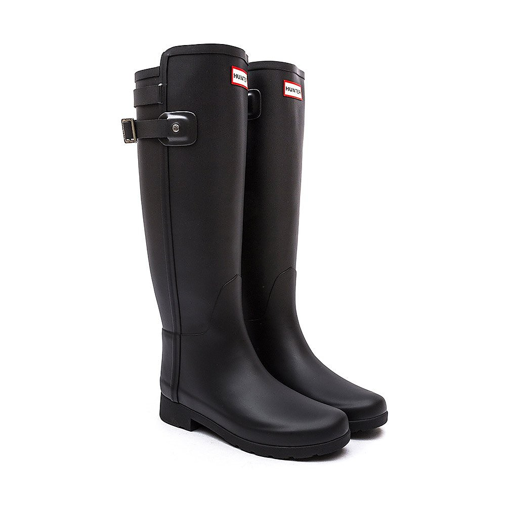 Hunter Wellies Womens Original Refined Back Strap - Black