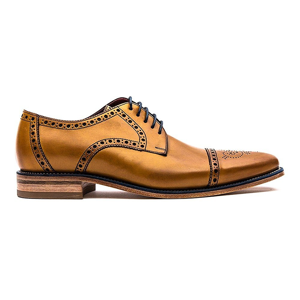 Loake Men's Foley Leather Oxford Brogues - Tan