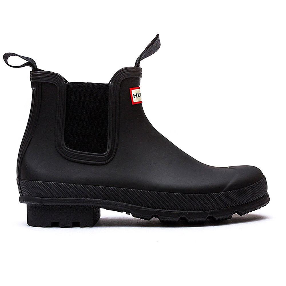 Hunter Wellies  Original Dark Sole Mens Chelsea Boots - Black