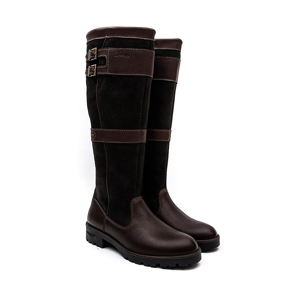 Dubarry Women's Longford Tall Leather Boots  - Black & Brown