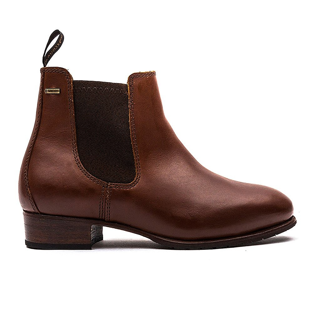 Dubarry Women's Cork Leather Chelsea Boots - Chestnut