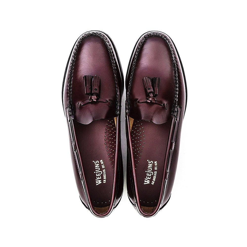 G.H. Bass Men's Weejuns Larkin Moc Tassle Loafers - Wine