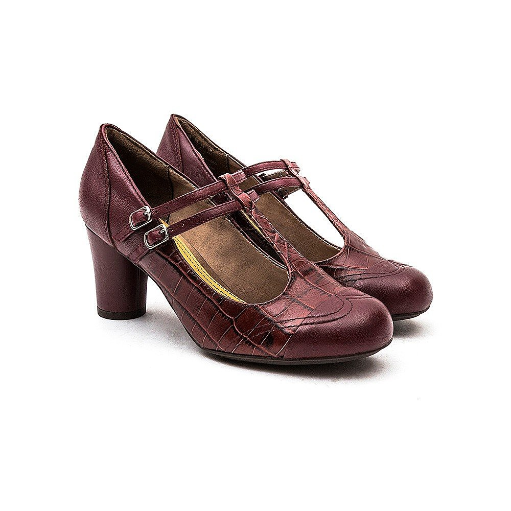 Hush Puppies  Kennedy Anya Womens Leather Shoes - Wine