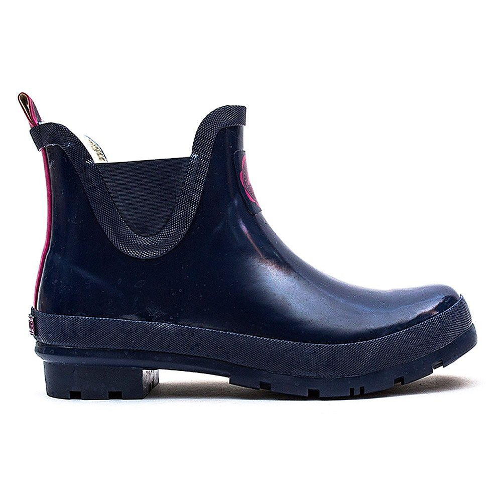 Joules Women's Wellibob Rubber Ankle Wellies - French Navy