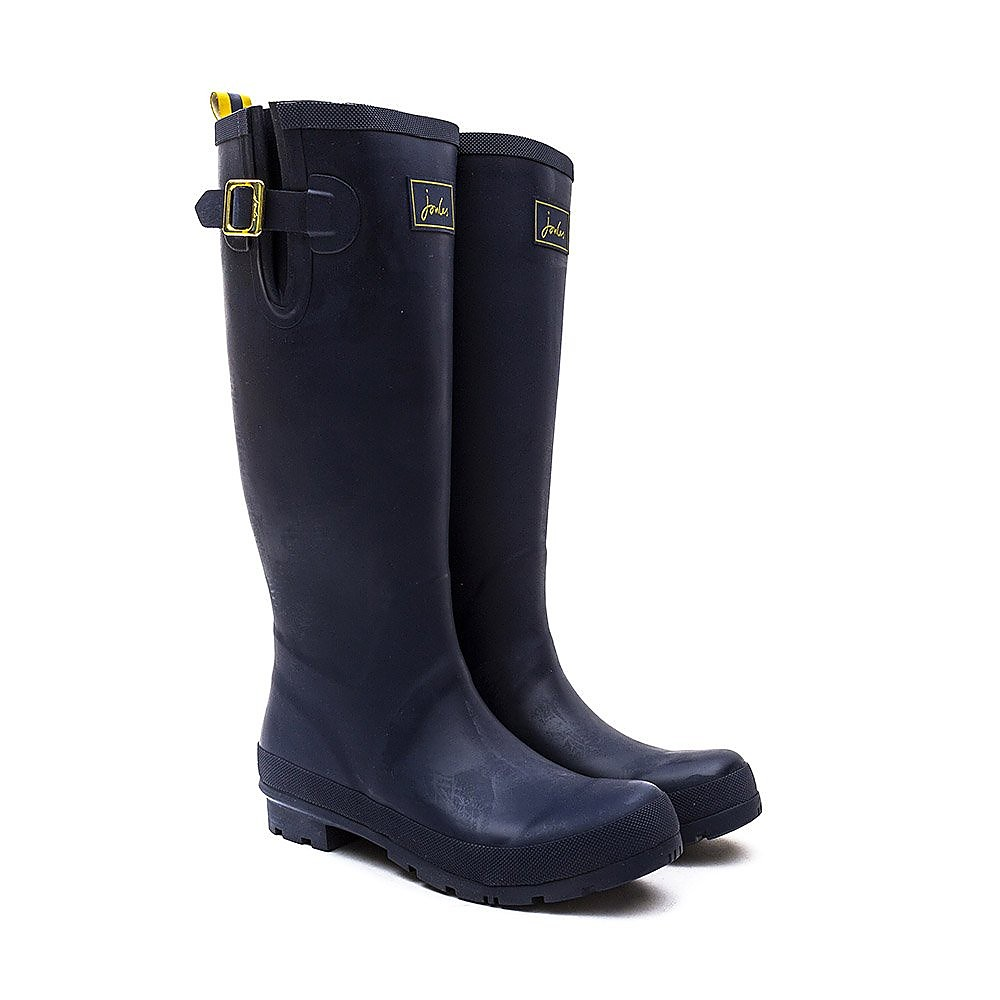 Joules Women's Field Rubber Wellington Boots - French Navy