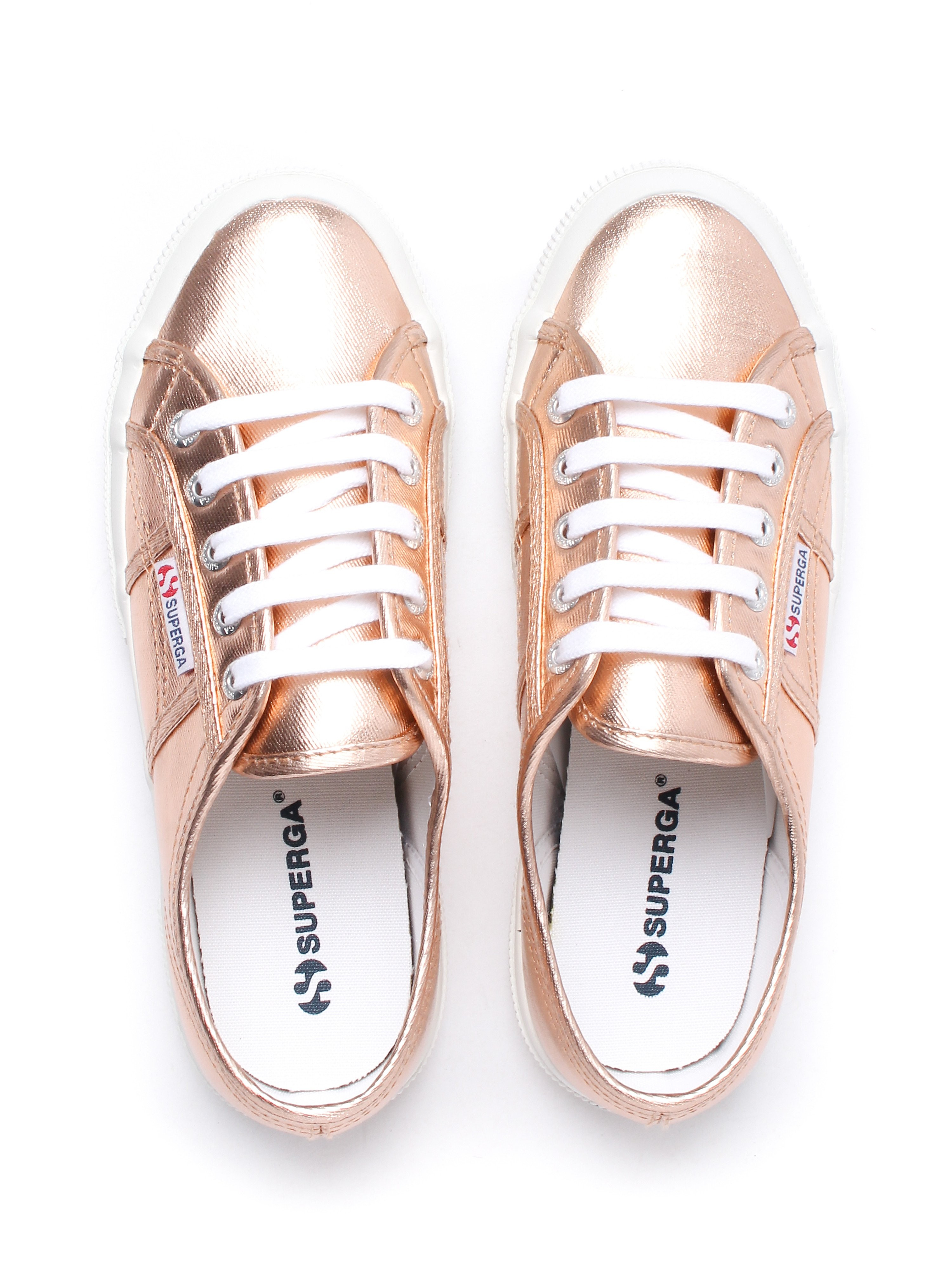 Superga Women's 2750 Cotmetu Metallic Canvas Trainers - Rose Gold