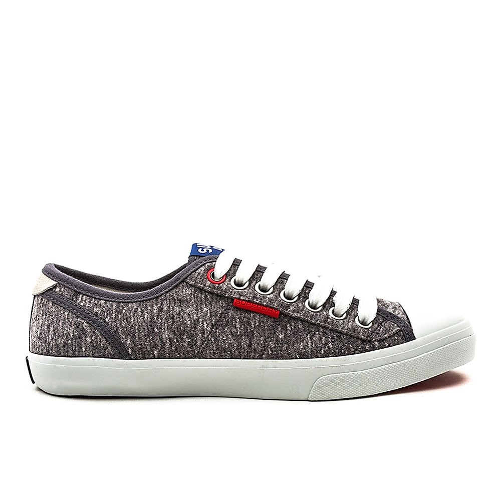 Superdry Low Pro Sneaker - Mens - Mid Grey
