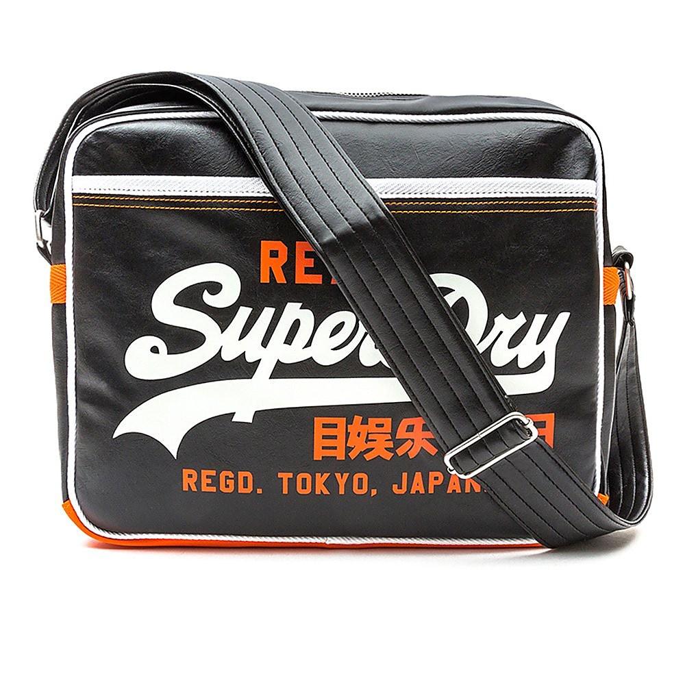 Superdry  Mashed Up Alumni Mens Bag  - Black/Optic