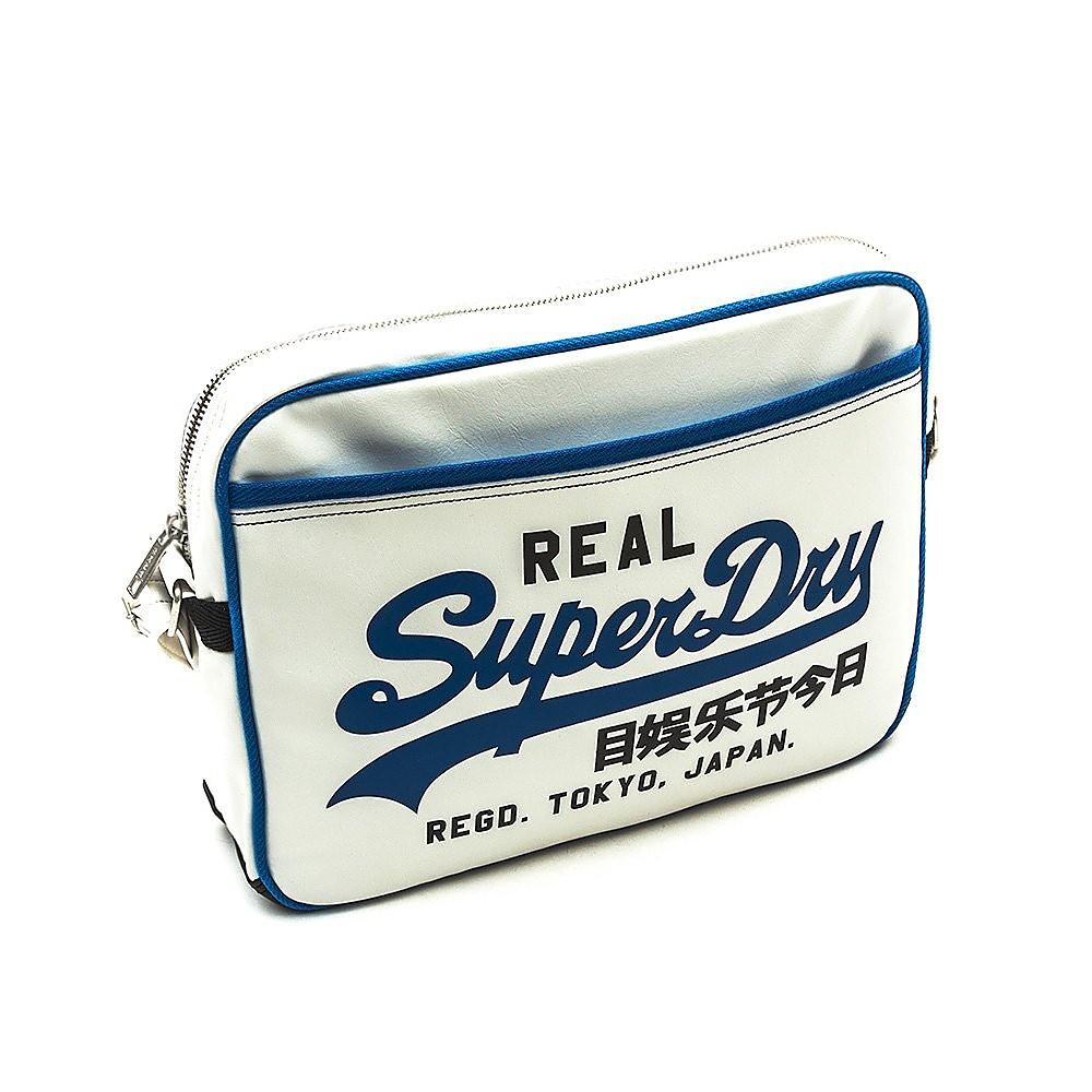 Superdry Mashed Up Alumni Bag - Optic/Cobalt Blue