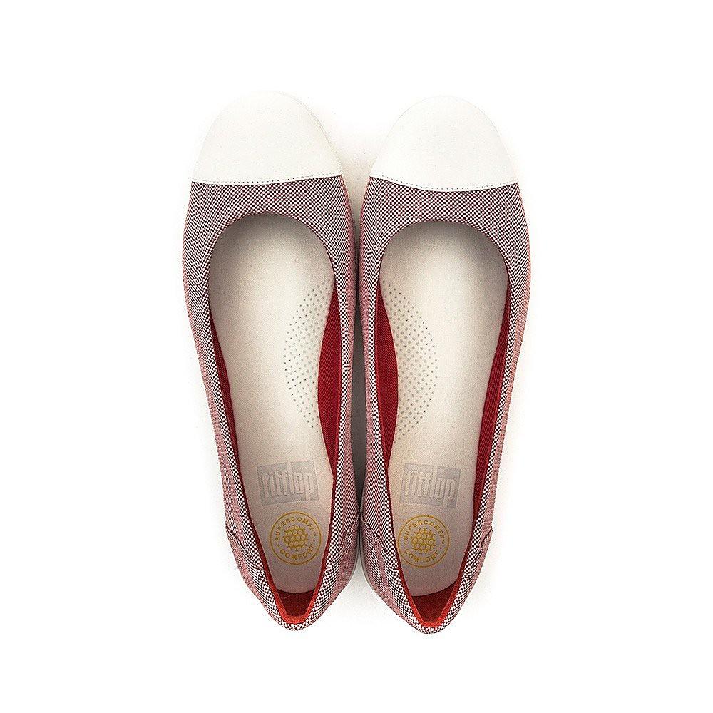 FitFlop F-Pop Ballerina - Womens - Red