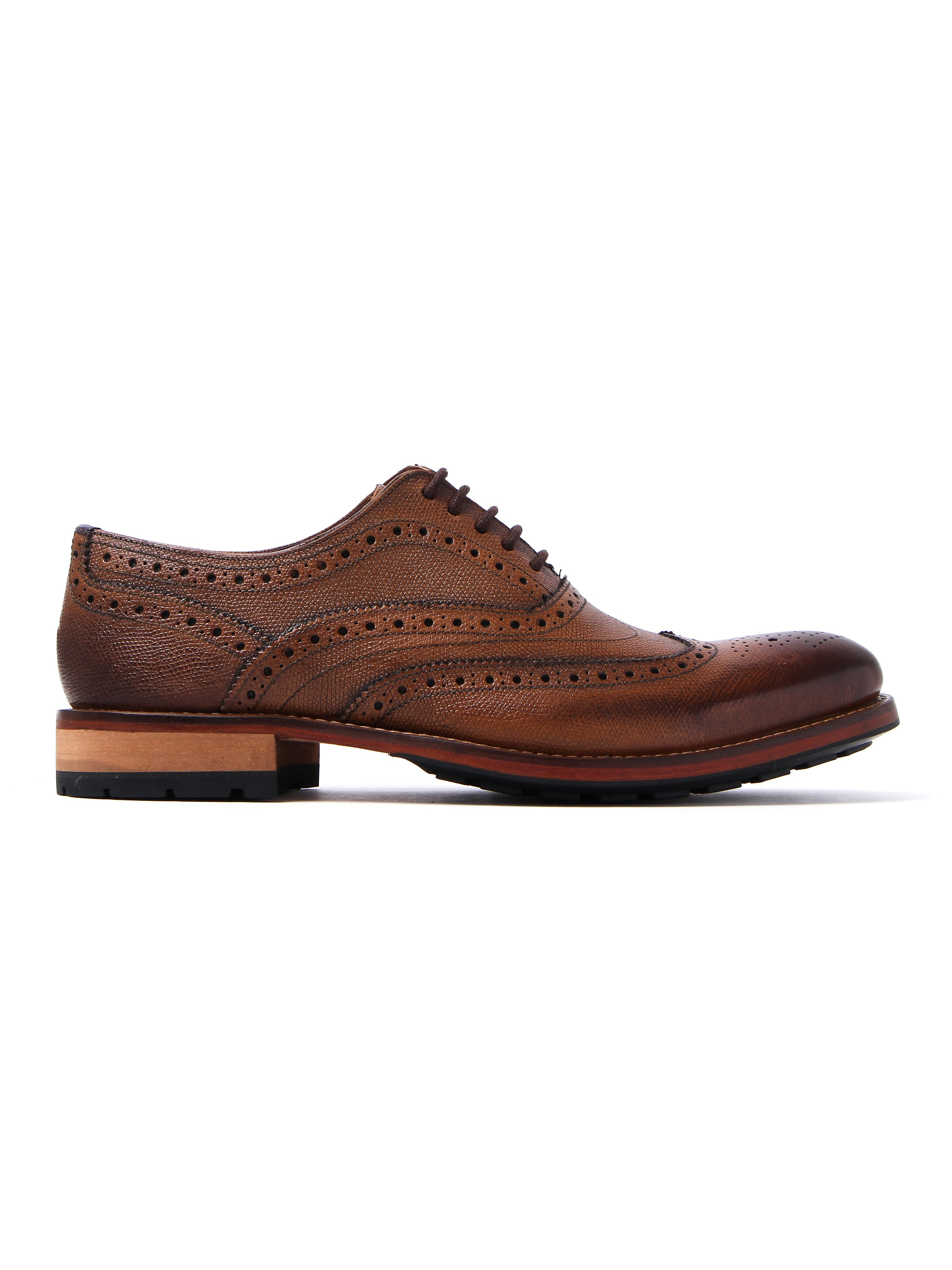Ted Baker Men's Guri Leather Oxford Brogues - Tan