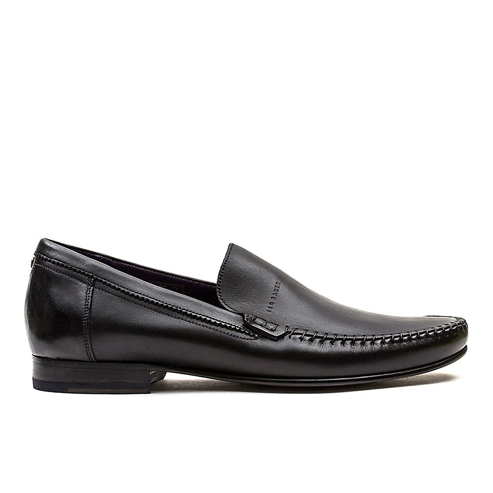 Ted Baker Men's Simeen Leather Round Toe Moccasins - Black