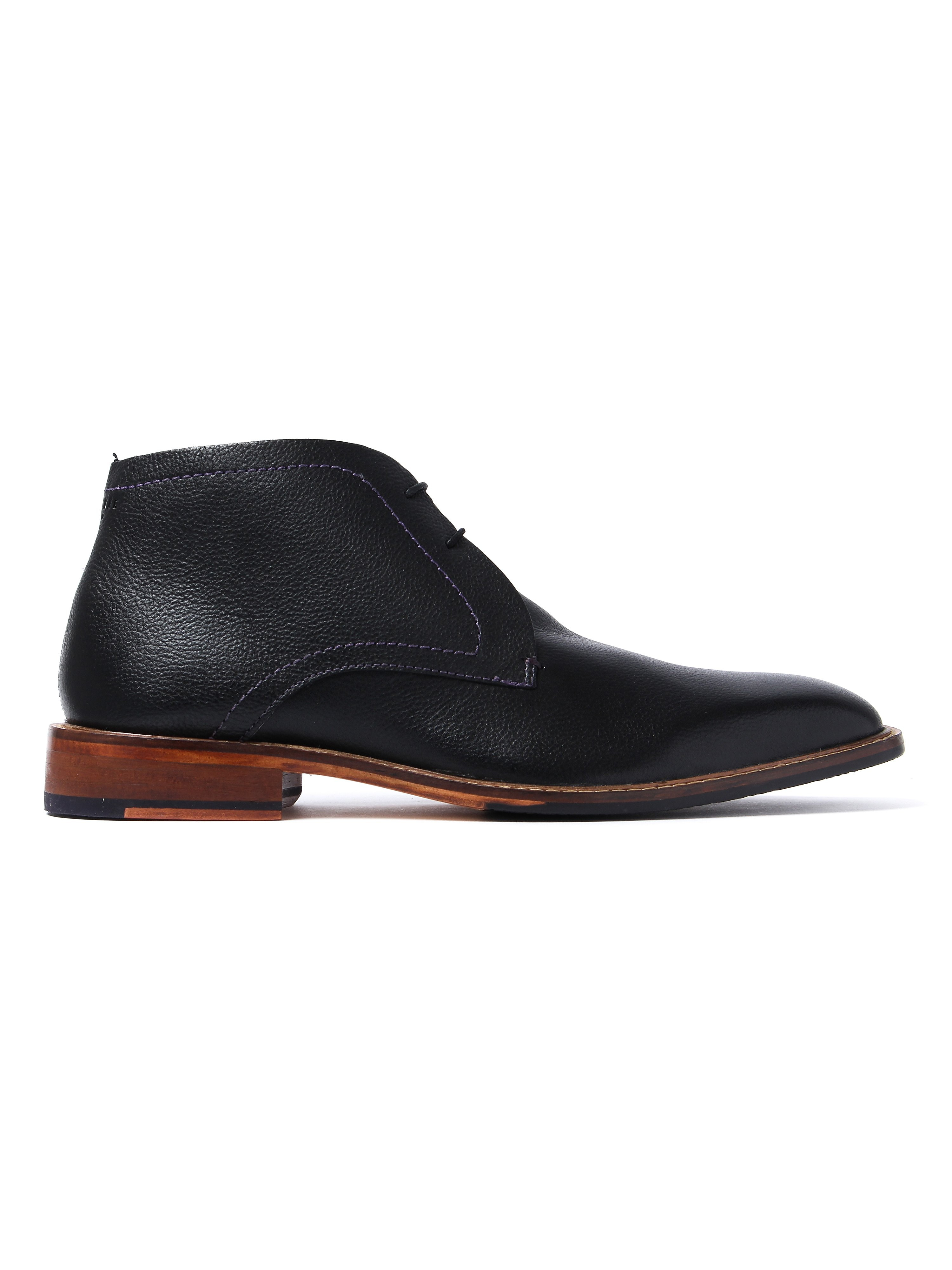 Ted Baker Men's Torsdi Leather Chukka Boots - Black