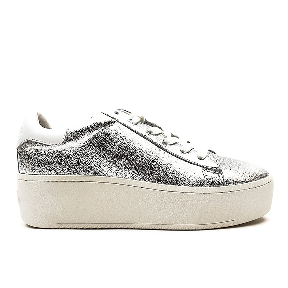 Ash Women's Cult Platine Leather Chunky Platform Trainers - Silver & White