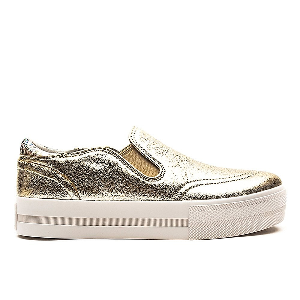 Ash Women's Ash Jungle Metallic Leather Trainers - Platine