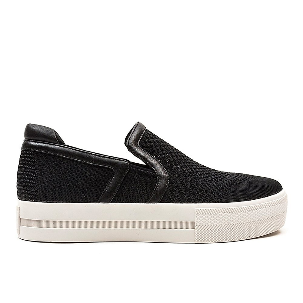 Ash Women's Jeday Knitted Detail Slip-On Trainer - Black