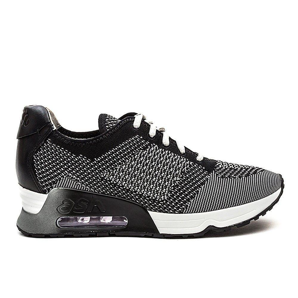 Ash Women's Lucky Woven & Leather Trainers - Marble & Black