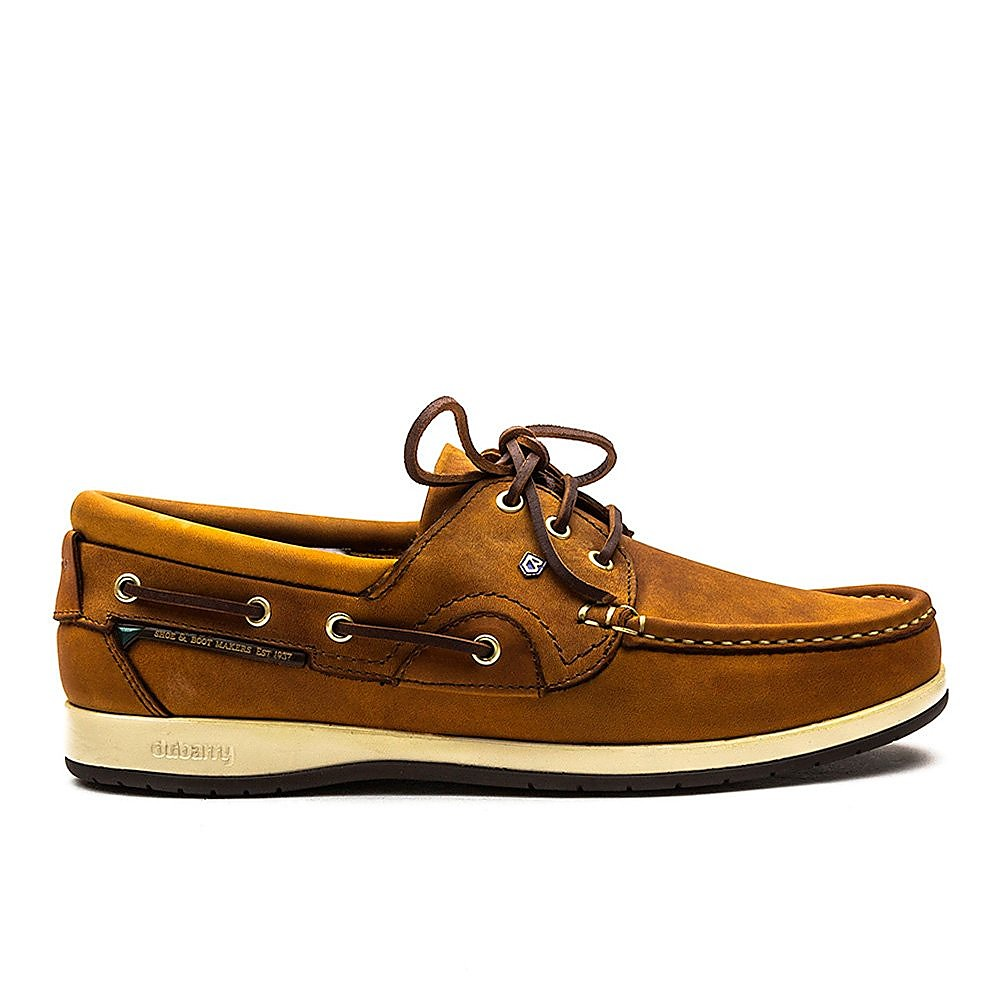 Dubarry Men's Commodore X LT Leather Boat Shoes - Whiskey
