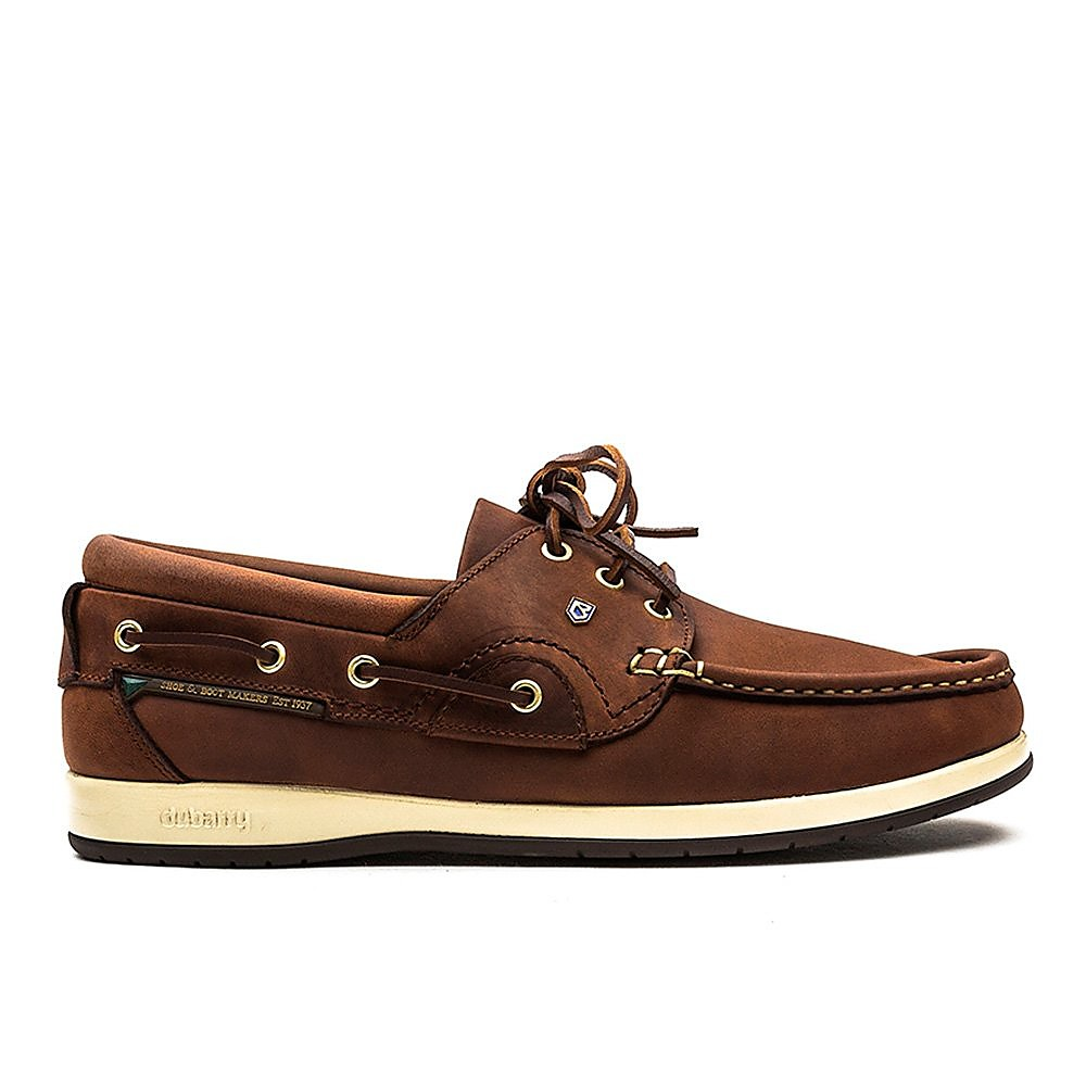 Dubarry Men's Commodore X LT Leather Boat Shoes - Chestnut